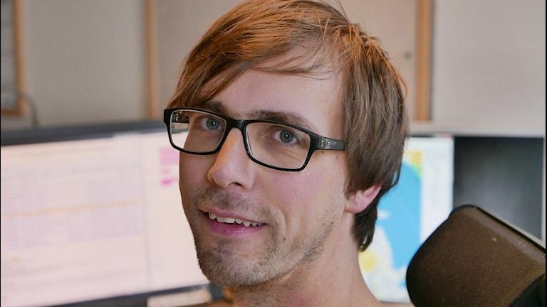 Stefan Gideon, trafikreporter. Foto: Lars-Åke Gustavsson/Sveriges Radio