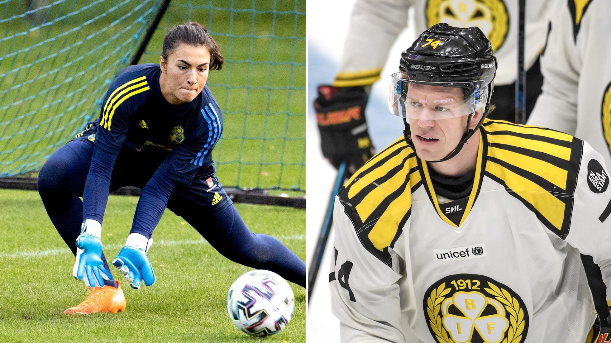 Zecira Musovic och Nicklas Danielsson
