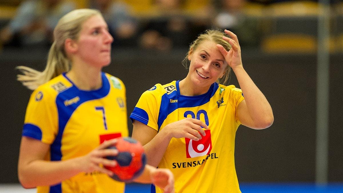 Linn Blohm och Isabelle Gulldén spelar i landslaget.