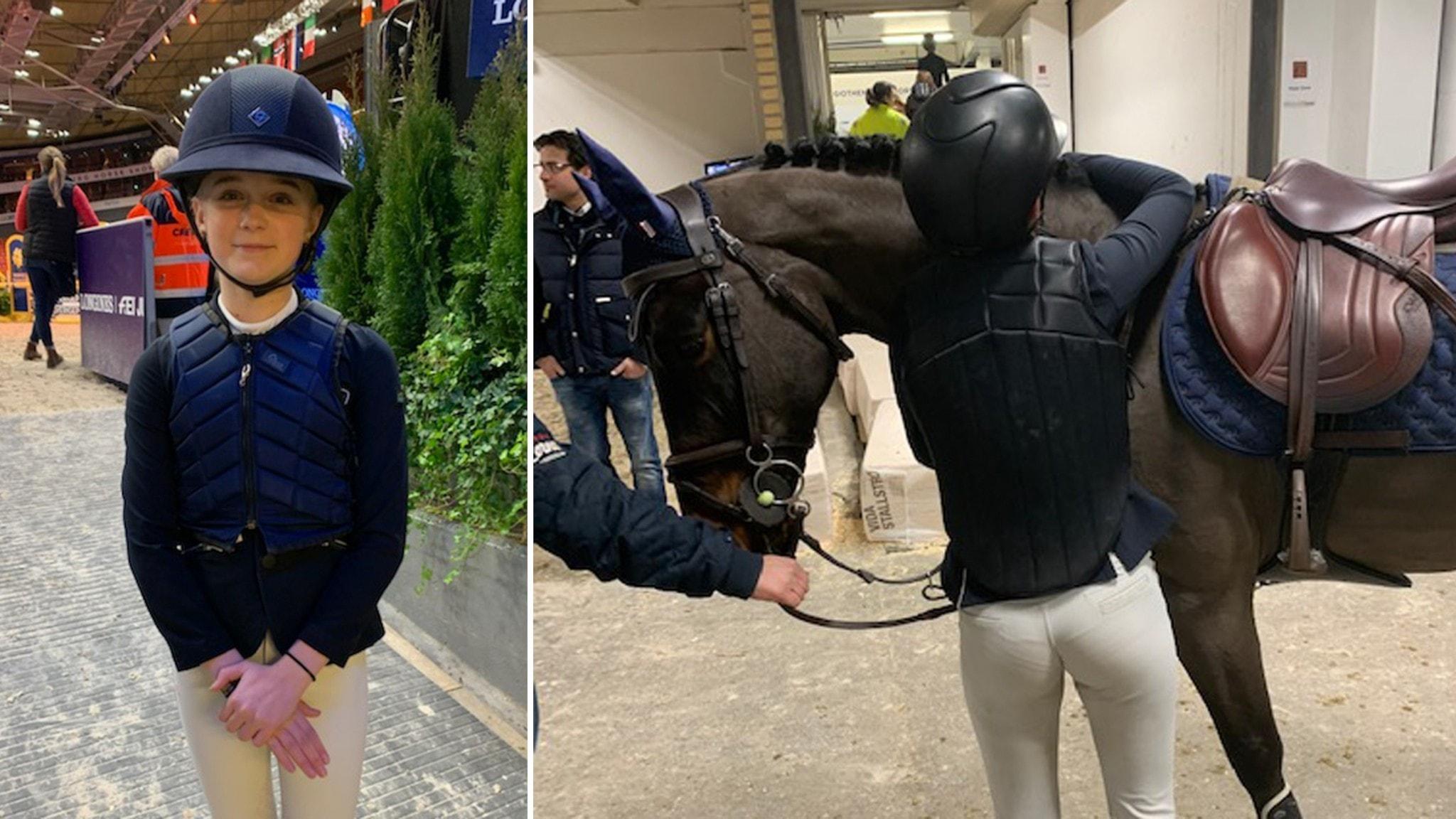 Unga ponnyryttarna tävlade inför storpublik