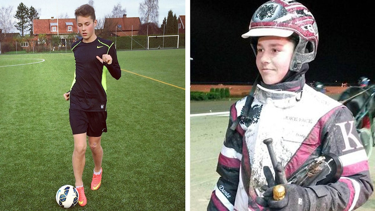 Dante Kolgjini är bra både på fotboll och trav.