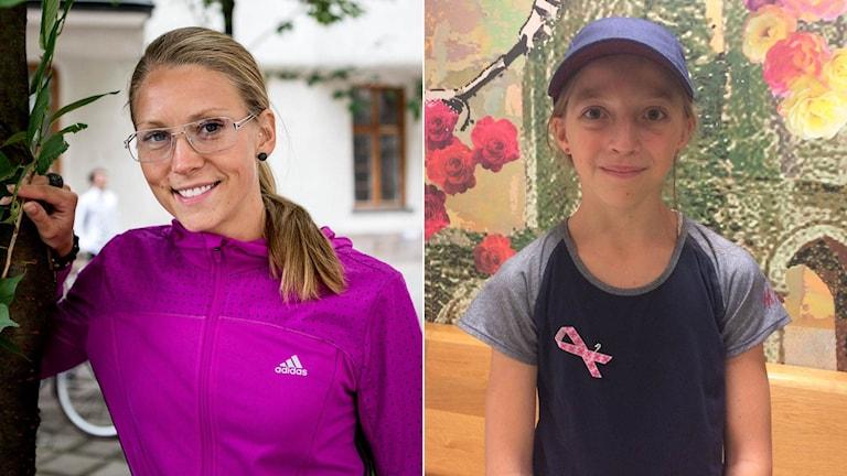 Ebba Jungmark och Melanie Berg. Foto: TT/SR
