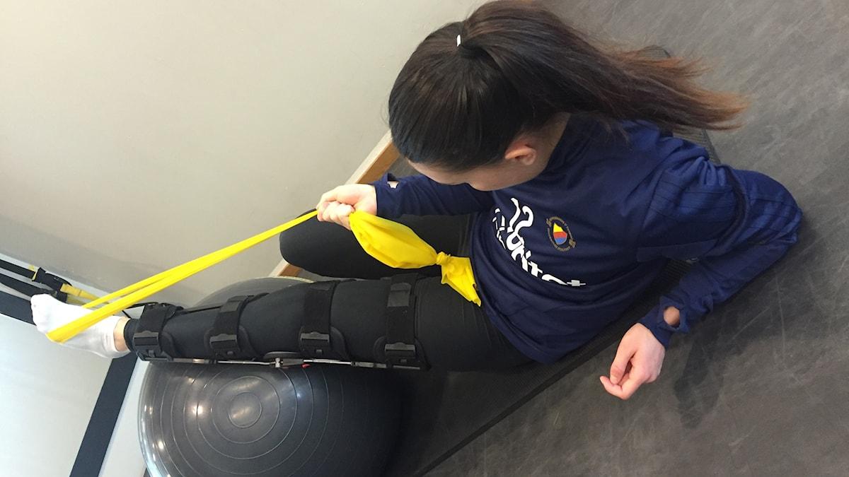 Fotbollslandslagets Emilia Appelqvist är knäskadad.
