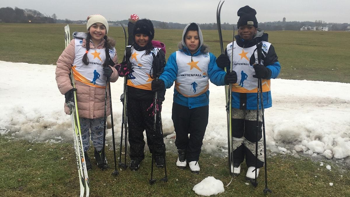10-åringarna Fatima, Sulijana, Arsani och Miguel