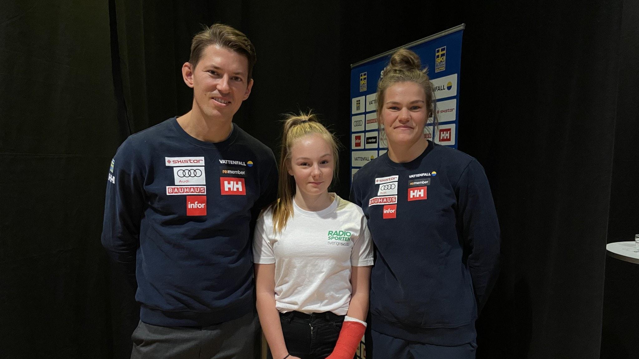 13-åriga Jaquline intervjuar Sveriges bästa slalomåkare