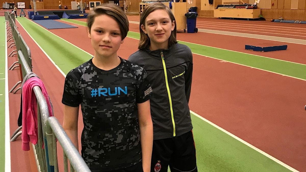 Juniorsporten följde med på William och Filips första träning.