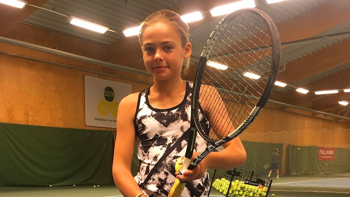 12-åriga tennisspelaren Lisen Rinman.