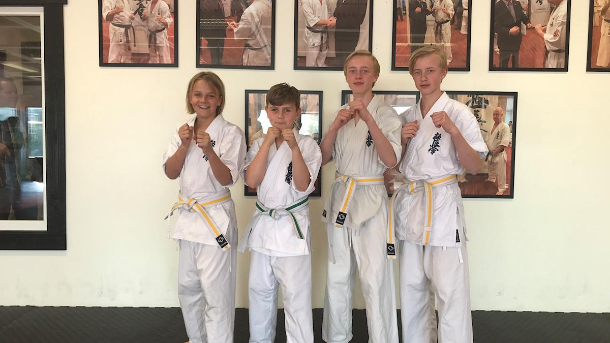 Radiosporten har besökt Kungälv Kyokushi Karate.