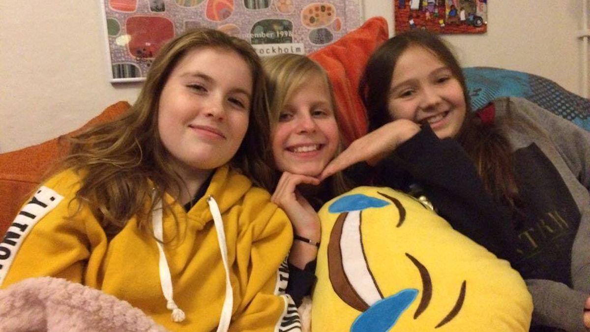 Märta, Ellen och Stella.