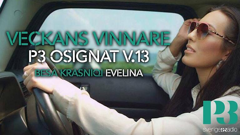 Besa Krasniqi veckans vinnare på P3 Osignat - Topp 10.
