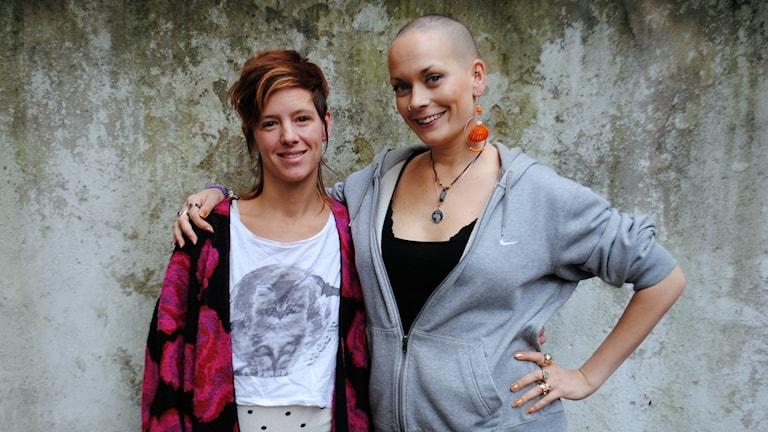 Sanna Bråding tillsammans med Marie Lalá. Foto: Anders Olsson / Musikguiden i P3: Osignat