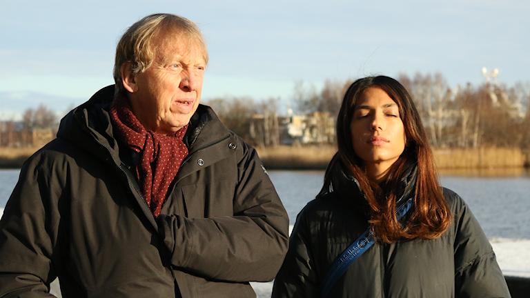 Tomas von Brömssen och Evin Ahmad. Foto: Pontus Bergman/Sveriges Radio