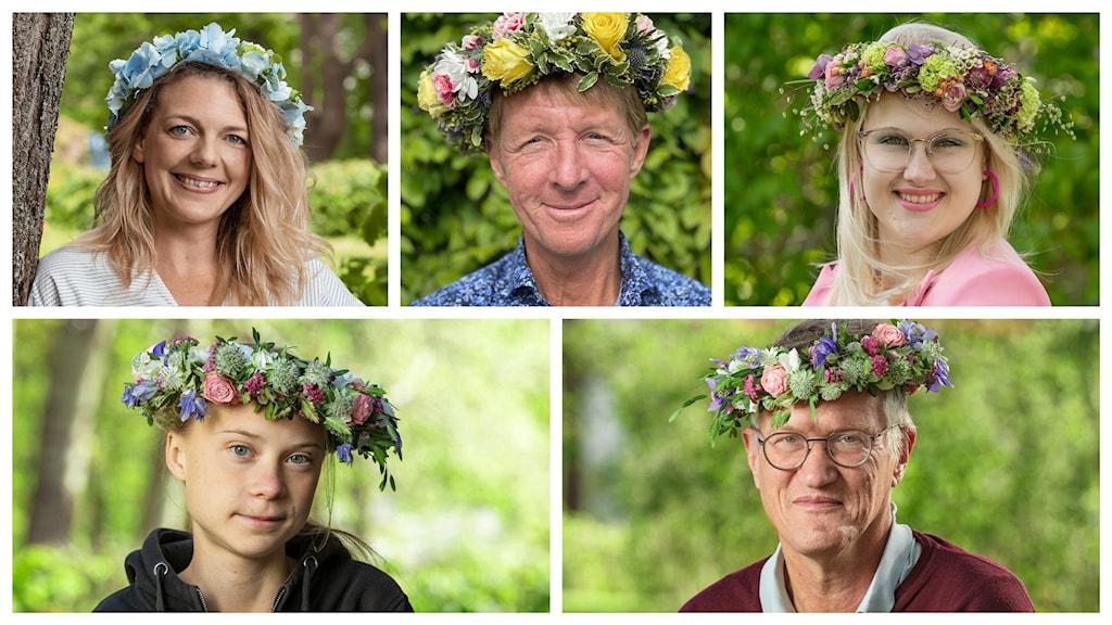 Eveline Jacobson, Björn Natthiko Lindeblad, Emma Örtlund, Greta Thunberg, Anders Tegnell