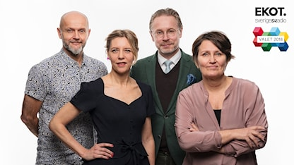 Ekots utfrågare valet 2018 Lasse Johansson, Katherine Zimmerman, Daniel Alling och Monica Saarinen Ekot Sveriges Radio
