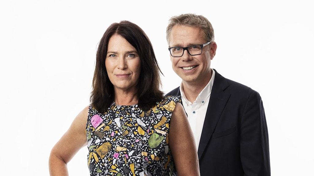Programledare Ekonomiekot Idag Margareta Svensson och Janne Andersson (saknas på bild: Olof Wijnbladh)