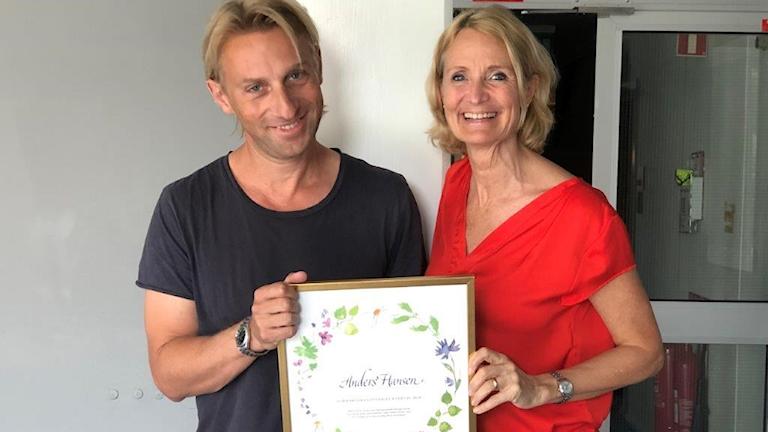 Anders Hansen och Bibi Rödöö. Foto: Sveriges Radio
