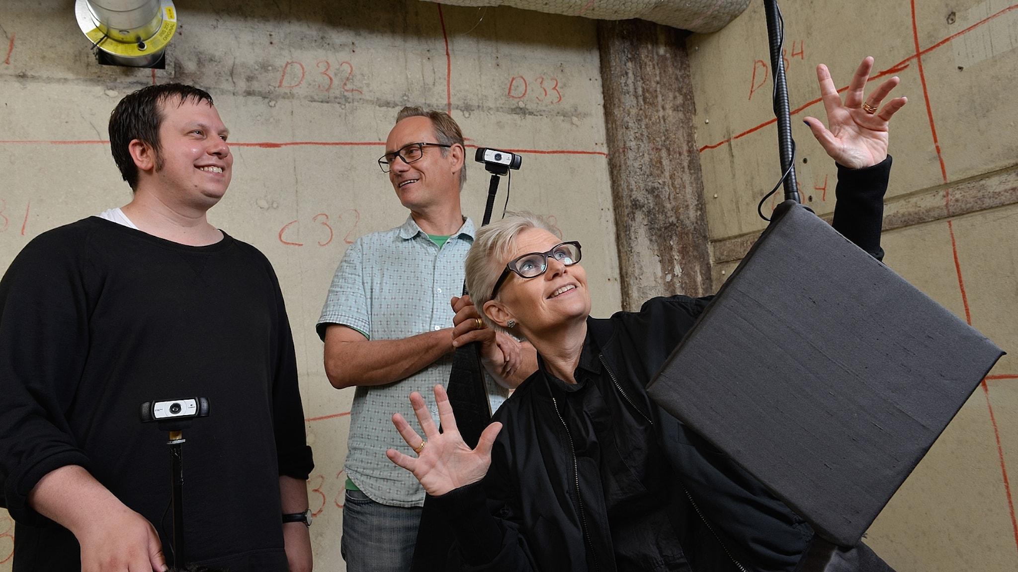 Ludvig Elblaus, Carl Unander-Scharin och Åsa Unander-Scharin. Foto: Arne Hyckenberg.