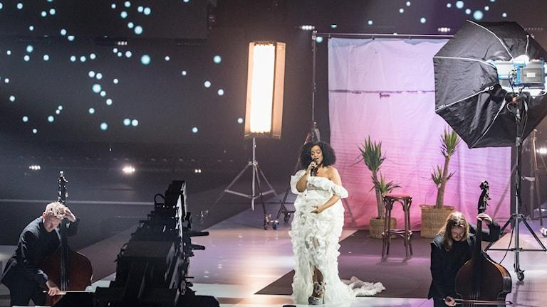 Seinabo Sey var först ut på årets P3 Guld-gala.