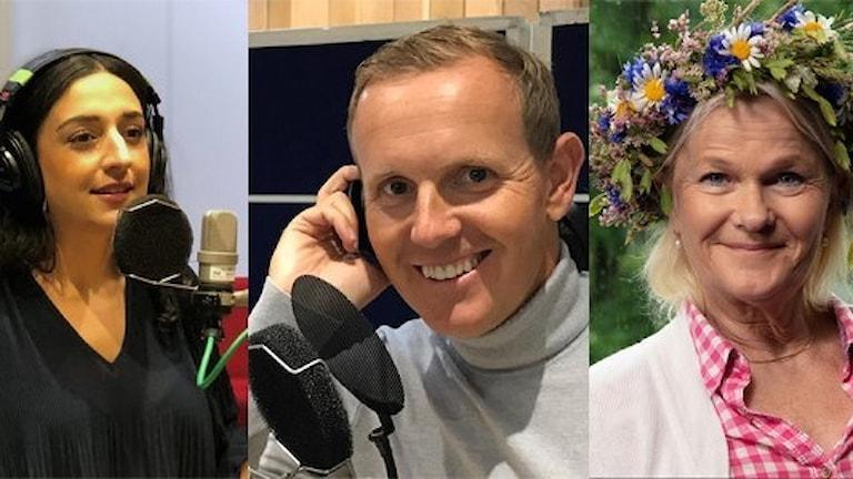 Parisa Amiri, Måns Möller och Sissela Kyle är tre av sommarens programledare i Karlavagnen i P4.