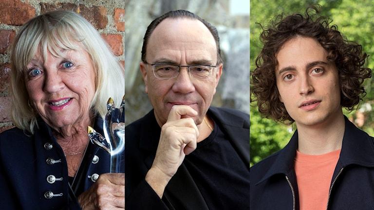 Monica Dominique, Sven-David Sandström och Jacob Mühlrad.