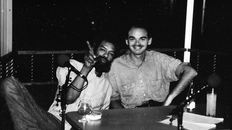 Gil Scott-Heron och Mats Nileskär 1989