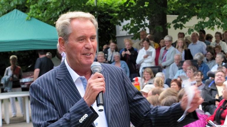 Sten Nilsson har turnerat med Sten & Stanley i 50 år. Foto: Karin Hellzén/Sveriges Radio