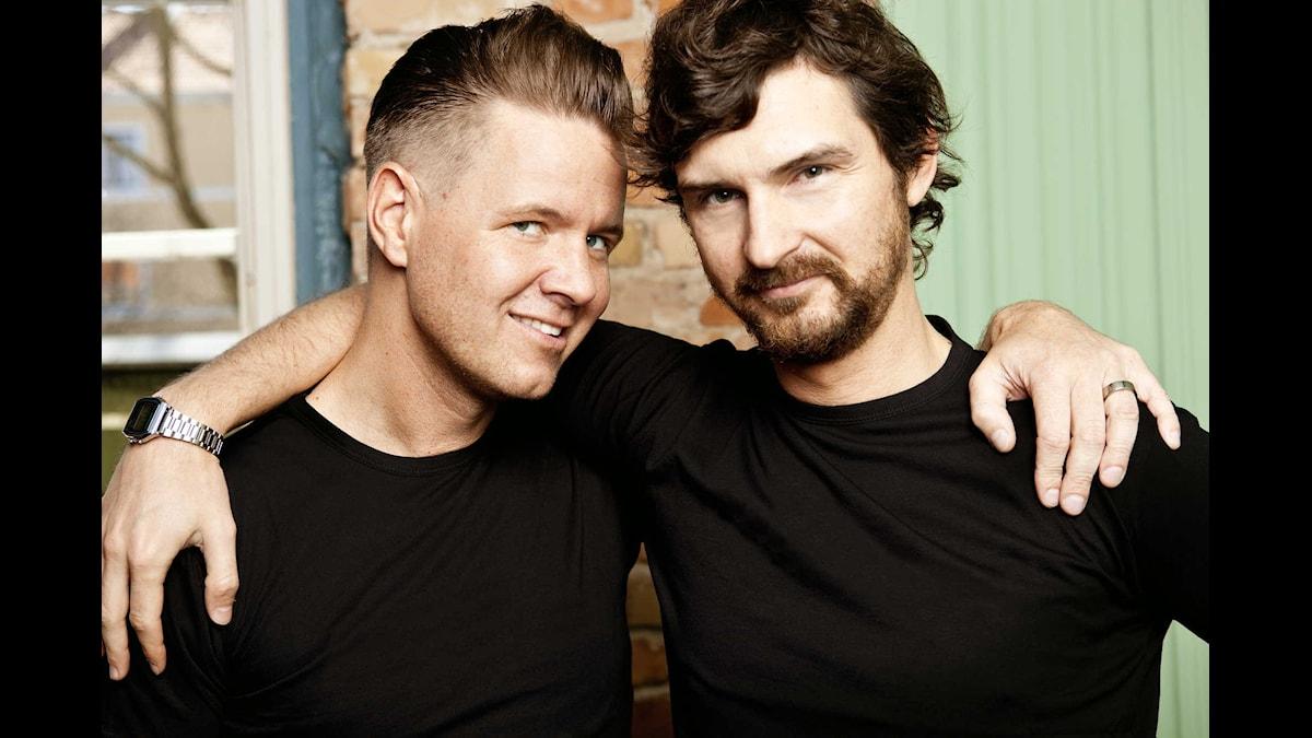 Christer Lundberg och Morgan Larsson. Foto: SVT Bild.