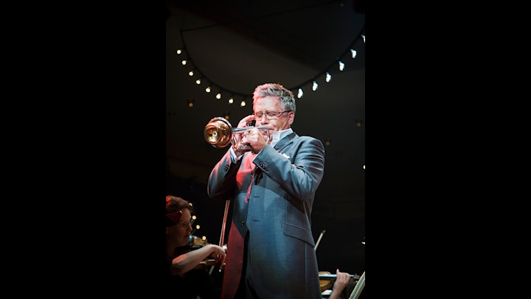 Trumpetaren Håkan Hardenberger. Foto: Micke Grönberg/Sveriges Radio