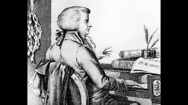 Wolfgang Amadeus Mozart. Foto: SVT Bild