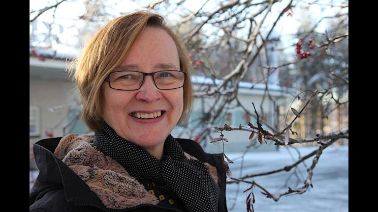 Tuulikki Koivunen Bylund, biskop i Härnösands stift, håller i veckans morgonandakter. Foto: Helena Andersson/Sveriges Radio