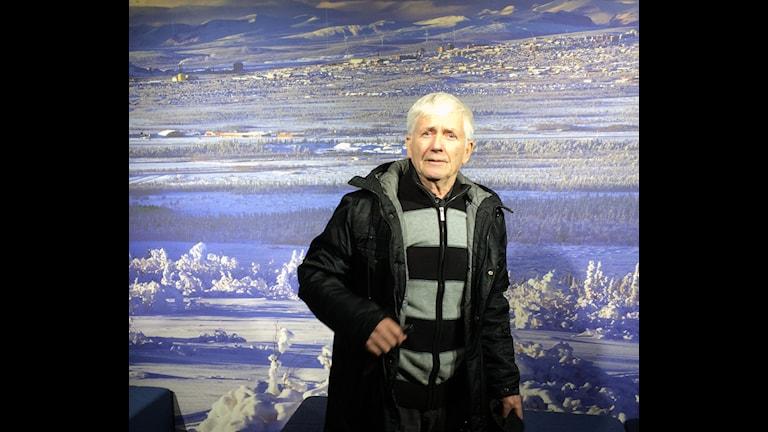 Willy Svensson, fd gruvarbetare Kiruna. Foto: Anton Berg/Sveriges Radio