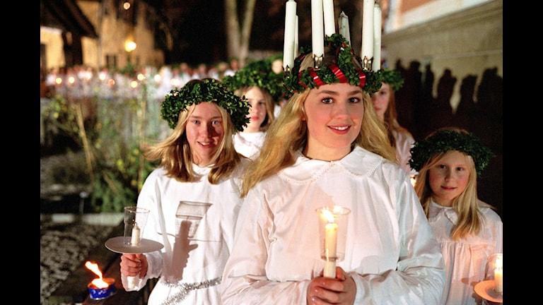 Luciatåg. Foto: Markus Lindgren/SVT