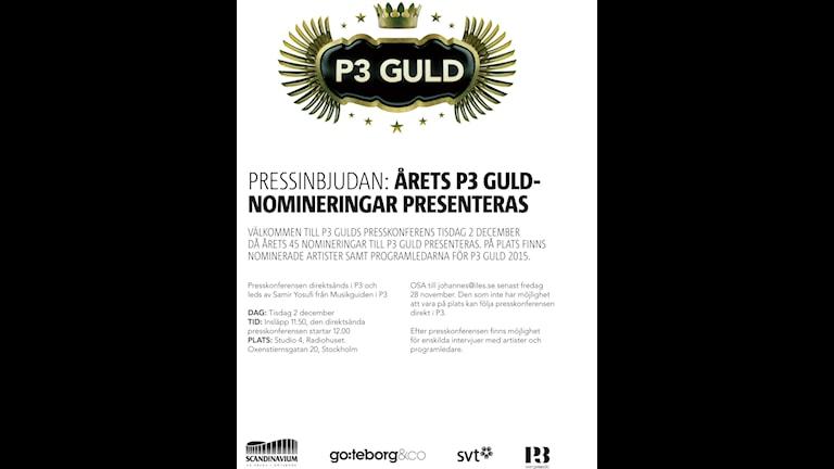 P3 Guld pressinbjudan