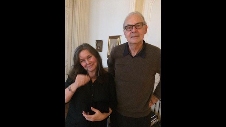 Anneli Dufva och Patrick Modiano Foto: Dominique Zehrfuss