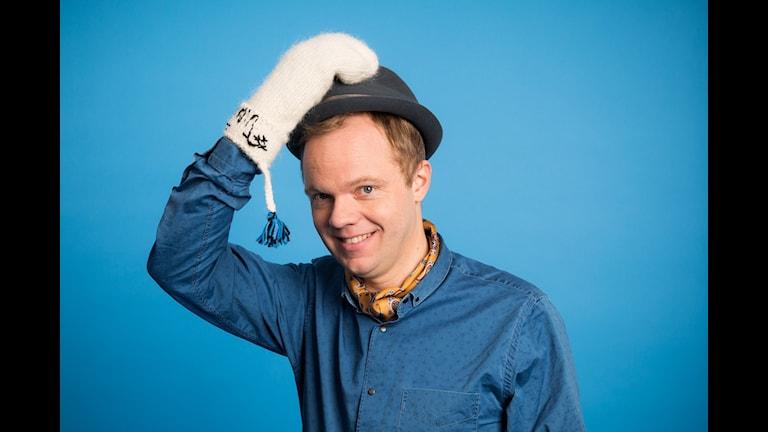 Vinter i P1. Olof Wretling. Vintervärd 2014. Sveriges Radio P1. foto: Mattias Ahlm/Sveriges Radio