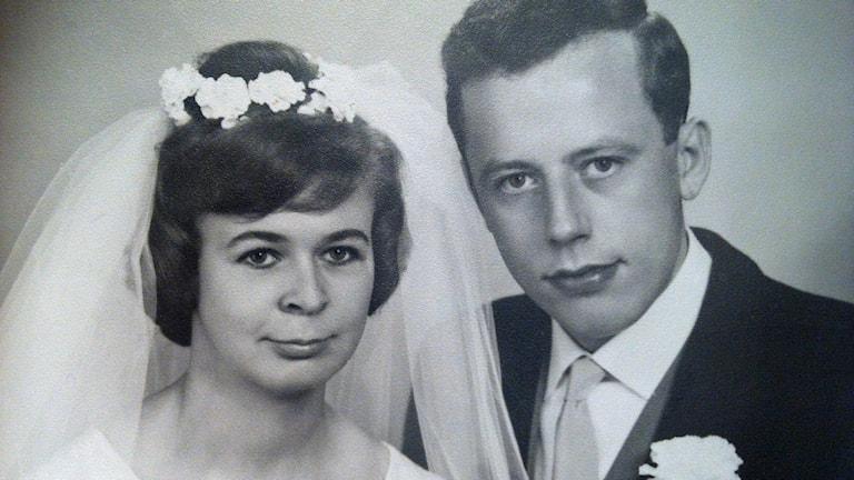 Lars Frändberg och hans fru när de gifte sig. Foto Privat