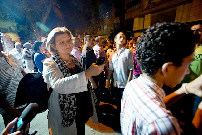 Cecilia Uddén i Kairo 2013. Foto: Johan Ljungström/Sveriges Radio