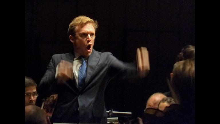 Daniel Harding dirigerar Sveriges Radios Symfoniorkester Foto: Arne Hyckenberg/Sveriges Radio