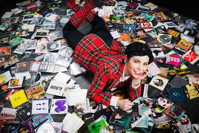 Carolina Norén programleder P4 Musik, en guide för ny musik i P4. Foto: Mattias Ahlm/Sveriges Radio