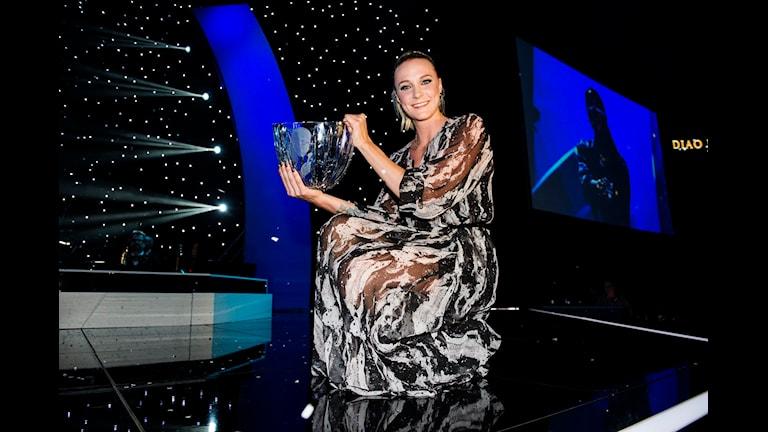 Sarah Sjöström, vinnare av Jerringpriset 2014. Foto: Alexander Donka/Sveriges Radio.