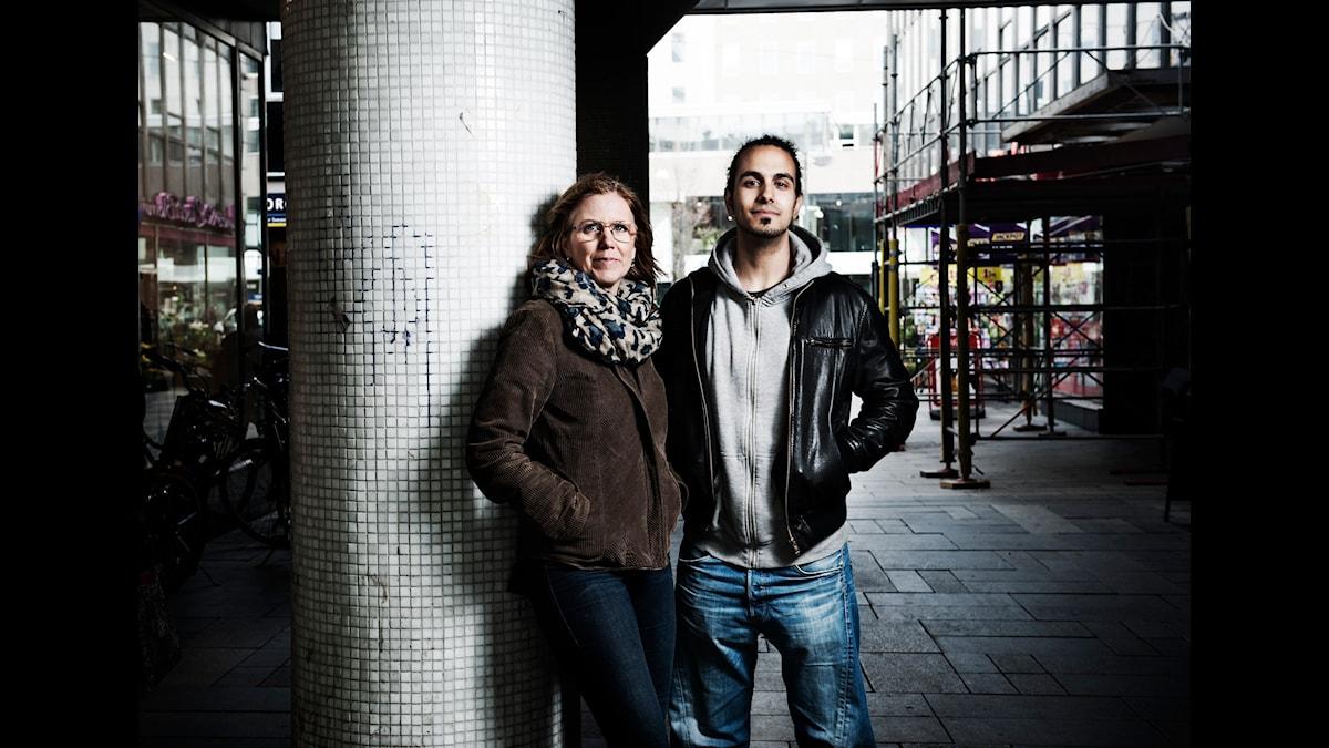 Mia Bryngelson och Gurgin Bakircioglu. Foto: Mikael Andersson