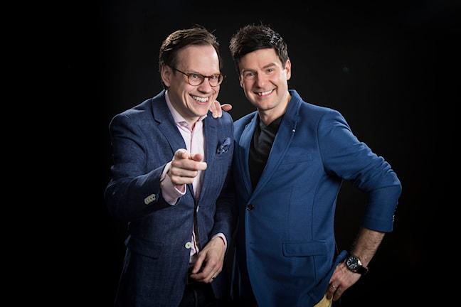 Thomas Deutgen och Thomas Lundin, P4 Dans. Foto: Micke Grönberg/Sveriges Radio