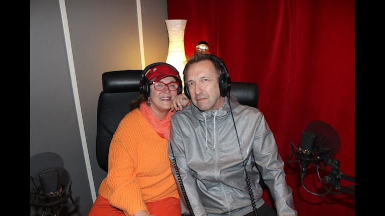 Py Bäckman och Janne Bark i Jukeboxen Foto: Stina Ivansson/Sveriges Radio
