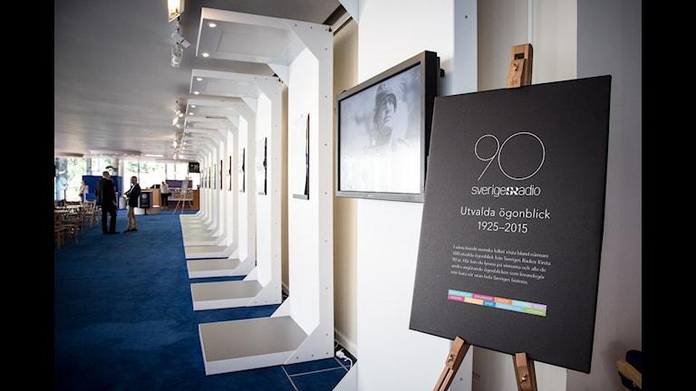 Utställningen Utvalda ögonblick när den visades på Berwaldhallen i Stockholm. Foto: Micke Grönberg/Sveriges Radio