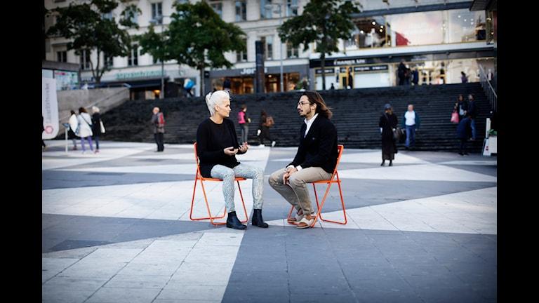 Hypoteket med Tiffany Kronlöf och Emanuel Sidea. Foto: Mattias Ahlm/Sveriges Radio