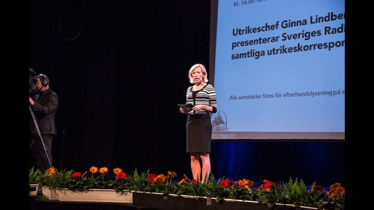 Ekots utrikeschef Ginna Lindberg. Foto: Micke Grönberg/Sveriges Radio