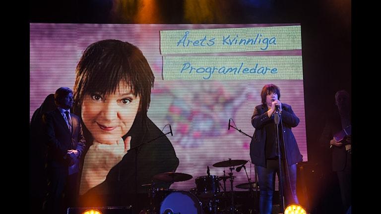 Lotta Bromé blev Årets kvinnliga programledare (bilden från 2014)för 8:e året. Foto: Micke Grönberg/Sveriges Radio
