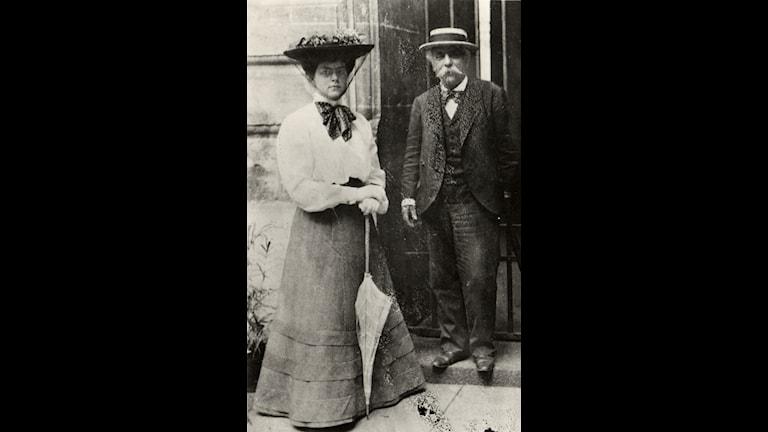 Nadia Boulanger och hennes kompositionslärare Gabriel Fauré. Foto: Stiftelsen Nadia och Lili Boulanger i Paris