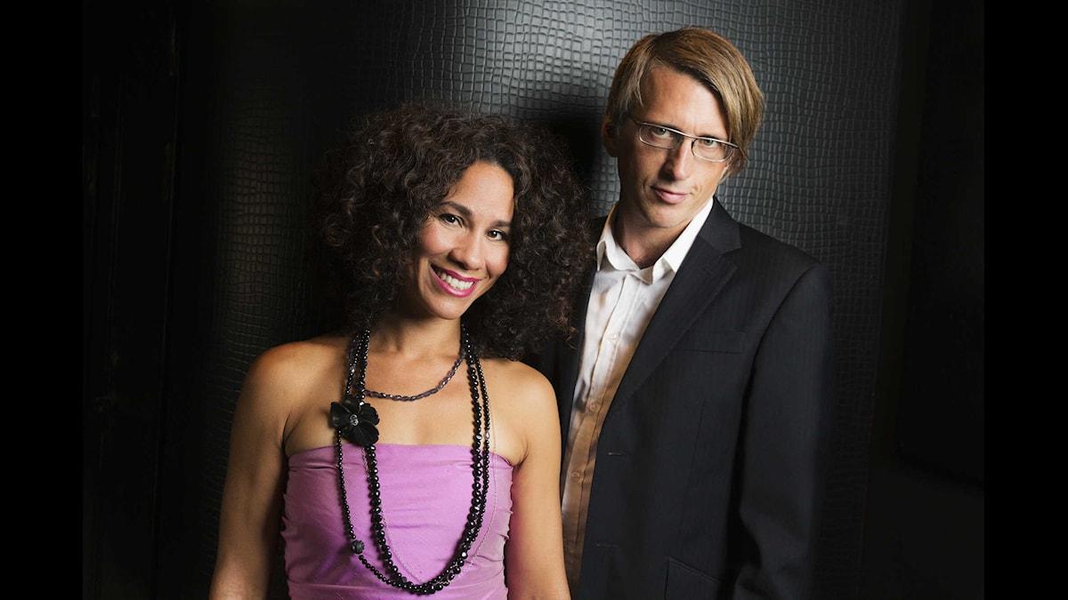 Miriam Aïda och Johannes Lundberg, P2 Jazzkatten 2015. Foto: Mattias Ahlm/Sveriges Radio