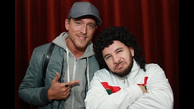 Danny Saucedo och Lilla Al-Fadji. Foto: Emilia Melgar/Sveriges Radio